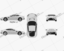 Aston Martin V8 Vantage 2012 car clipart
