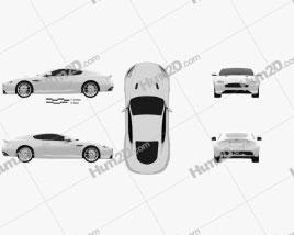 Aston Martin DB9 2013 car clipart