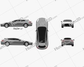 Aston Martin Rapide Bertone Jet 2+2 2013 car clipart