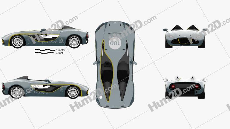Aston Martin CC100 Speedster 2013 Clipart Image