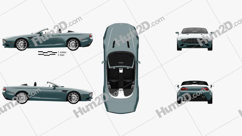 Aston Martin DB9 Spyder Zagato Centennial 2014 Clipart Image