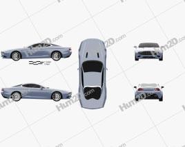 Aston Martin DB9 Coupe Zagato Centennial 2014 car clipart