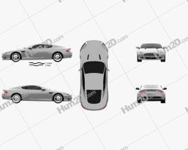 Aston Martin DB9 2004 car clipart