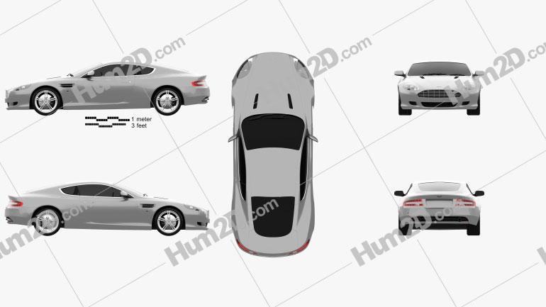 Aston Martin DB9 2004 Clipart Image