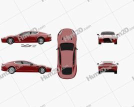 Aston Martin Rapide S 2013 car clipart