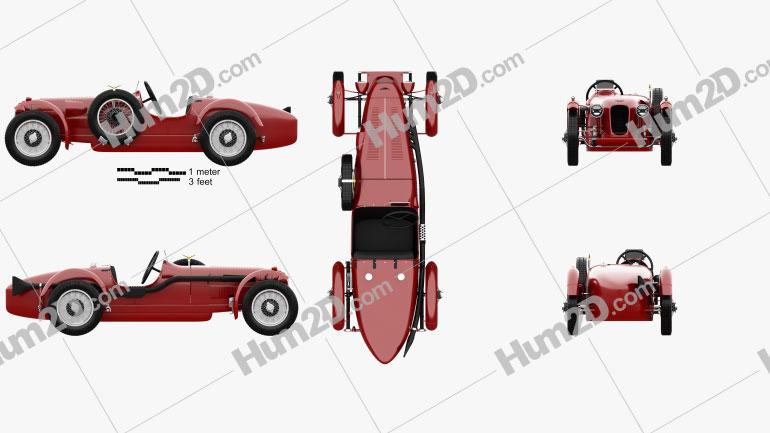 Aston Martin 2-Litre Speed Model 1939 Red car clipart