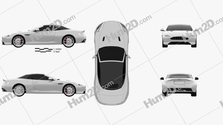Aston Martin DB9 Volante 2013 car clipart
