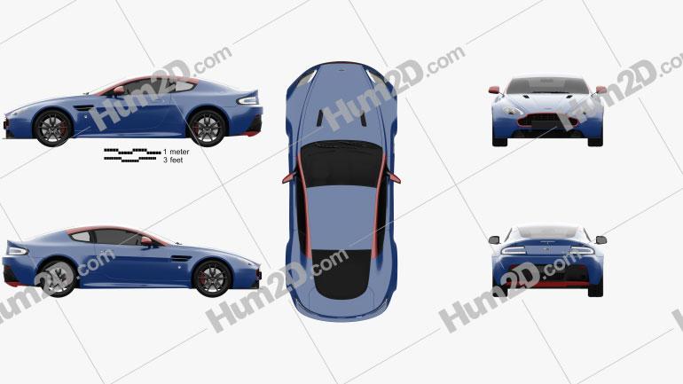 Aston Martin Vantage N430 2015 car clipart