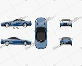 Aston Martin Vanquish Volante 2013 car clipart