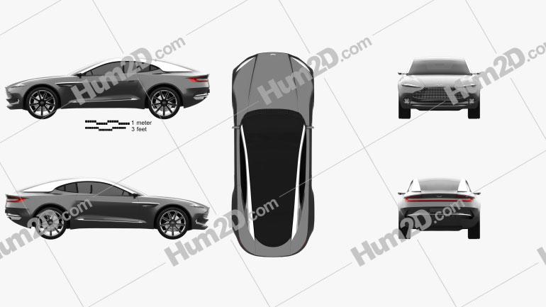 Aston Martin DBX concept 2015 Clipart Image