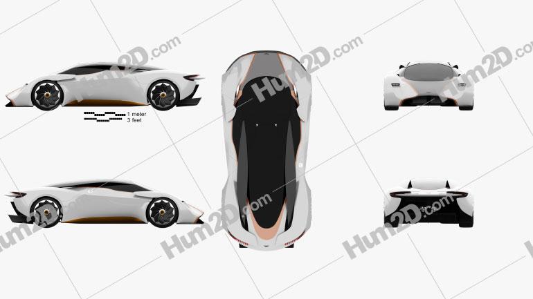 Aston Martin DP-100 Vision Gran Turismo 2014 car clipart