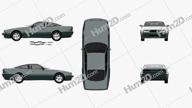 Aston Martin Virage 1989 car clipart