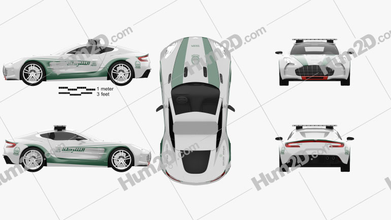Aston Martin One-77 Police Dubai 2013 car clipart