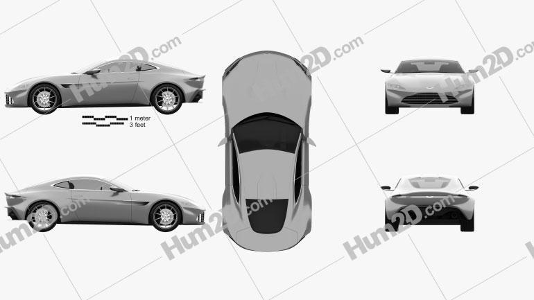 Aston Martin DB10 2015 Clipart Image