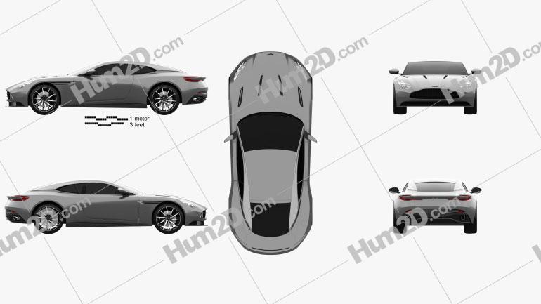 Aston Martin DB11 2017 car clipart