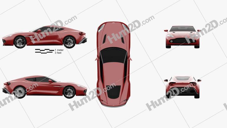 Aston Martin Vanquish Zagato 2016 Clipart Image