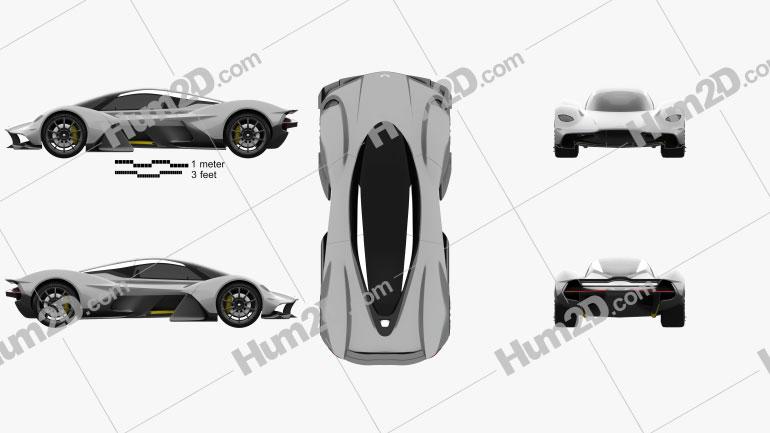Aston Martin AM-RB 2018 car clipart