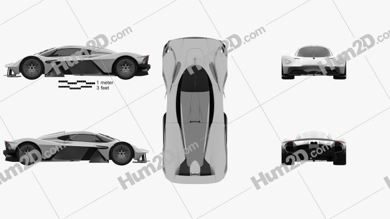 Aston Martin Valkyrie 2018 Clipart Image
