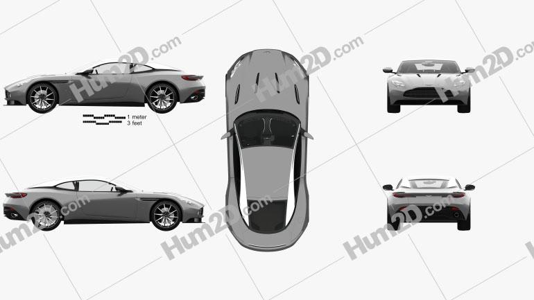 Aston Martin DB11 with HQ interior 2017 car clipart