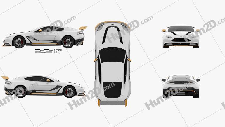 Aston Martin V12 Vantage GT3 2015 car clipart