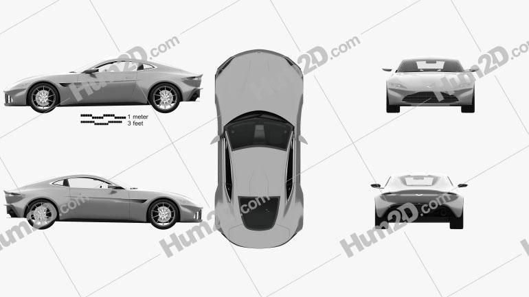 Aston Martin DB10 with HQ interior 2015 Clipart Image