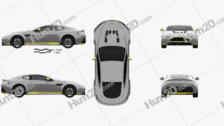 Aston Martin V12 Vantage S Sport-Plus 2016 car clipart