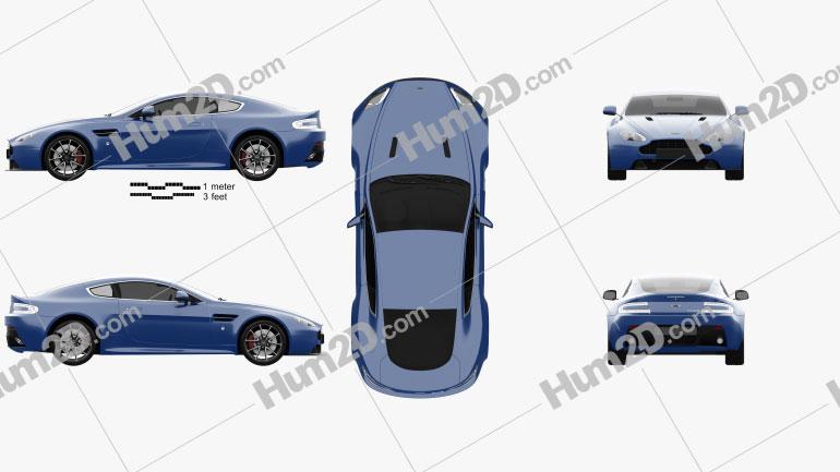 Aston Martin V8 Vantage S 2015 car clipart