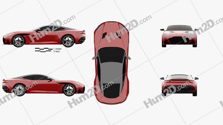 Aston Martin DBS Superleggera 2019 car clipart