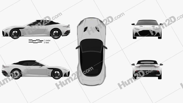 Aston Martin DBS Superleggera Volante 2020 Clipart Image