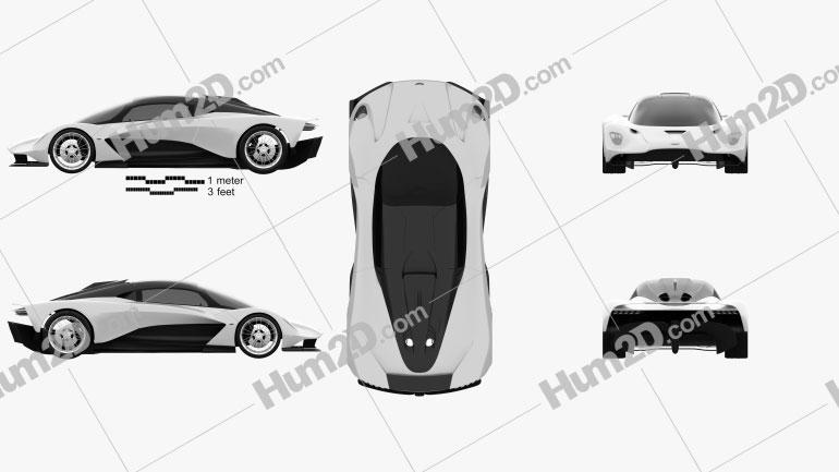 Aston Martin Valhalla 2020 Clipart Image
