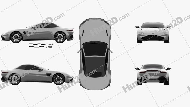 Aston Martin Vantage Roadster 2020 car clipart