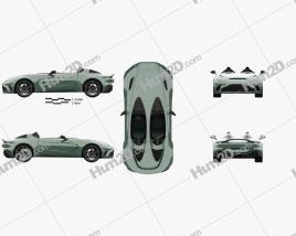 Aston Martin V12 Speedster 2021 car clipart