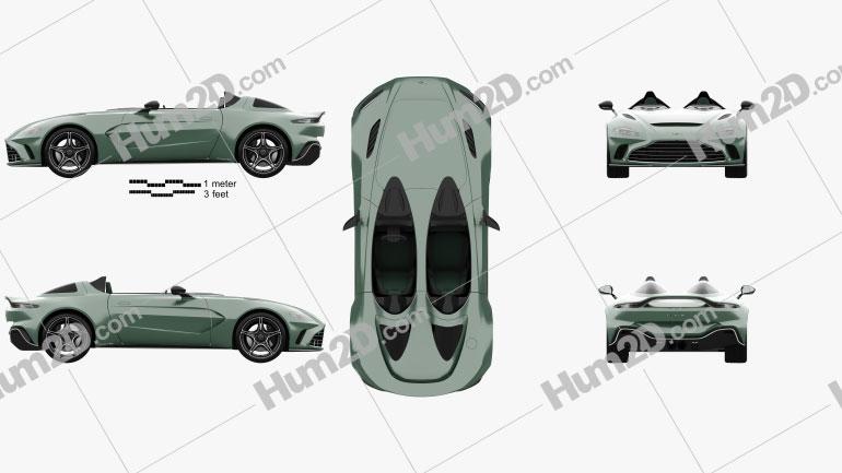 Aston Martin V12 Speedster 2021 Imagem Clipart