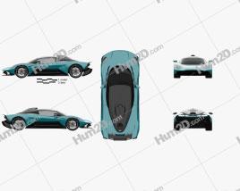 Aston Martin Valhalla 2022 car clipart