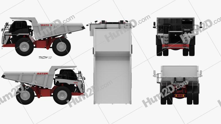 Astra RD50 Dump Truck 2010 clipart