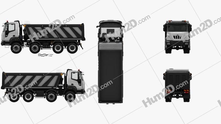 Astra HD9 (84-52) Muldenkipper 4-Achs mit HD Innenraum 2012 Clipart Bild