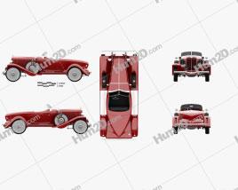 Auburn 8-98 Boattail Speedster 1931 car clipart