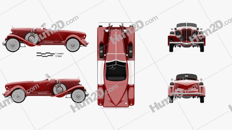Auburn 8-98 Boattail Speedster 1931 Clipart