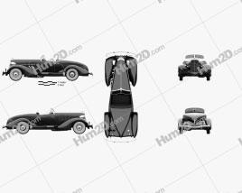 Auburn 851 SC Boattail Speedster 1935 Clipart