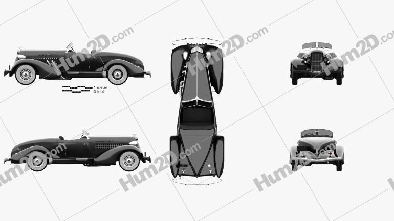 Auburn 851 SC Boattail Speedster 1935