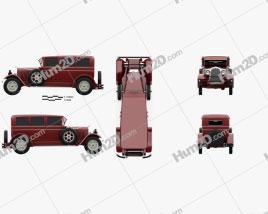 Auburn 8-88 1928 car clipart
