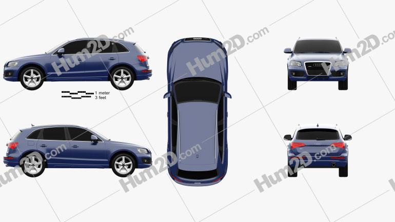 Audi Q5 2009 Clipart Image