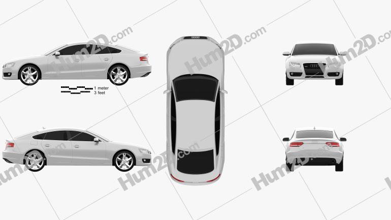 Audi A5 Sportback 2010 car clipart