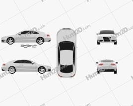 Audi A5 Coupe 2010 car clipart