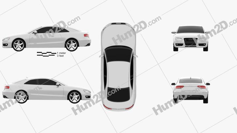 Audi A5 Coupe 2010 Clipart Image