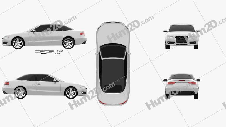 Audi A5 Convertible 2010 Clipart Image