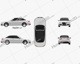 Audi S5 Convertible 2010 car clipart