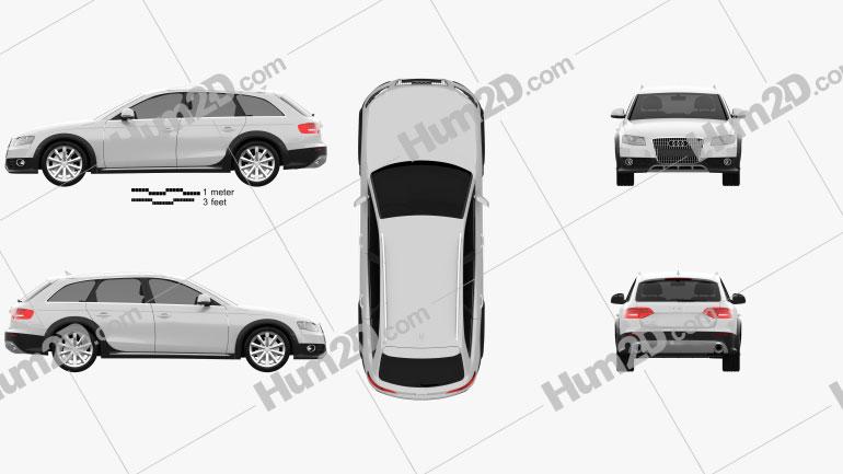 Audi A4 Allroad Quattro 2010 Clipart
