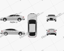 Audi S5 Sportback 2011 car clipart