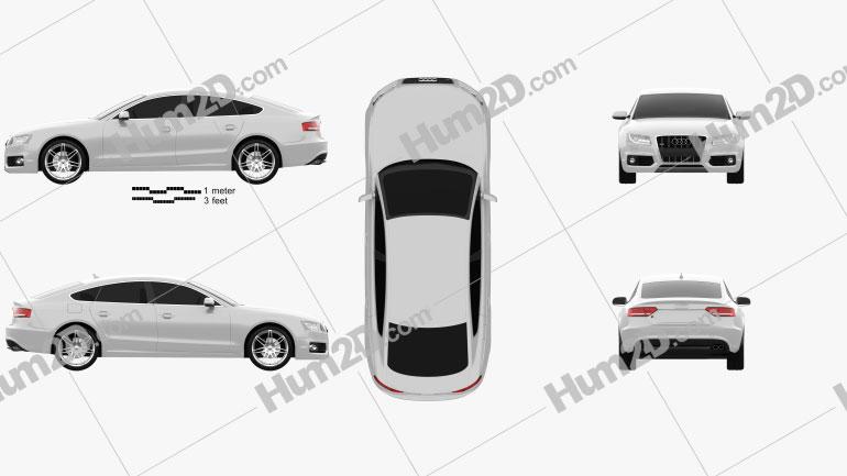 Audi S5 Sportback 2011 Clipart Image